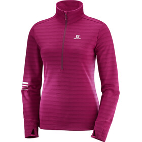 Salomon W's Lightning Half Zip Midlayer Cerise/Beet Red